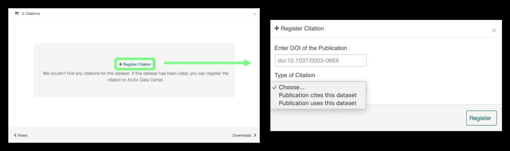 Button to register citations